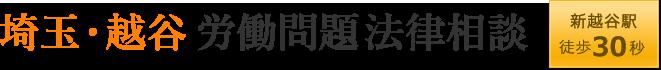 埼玉・越谷労働問題法律相談 新越谷駅徒歩30秒